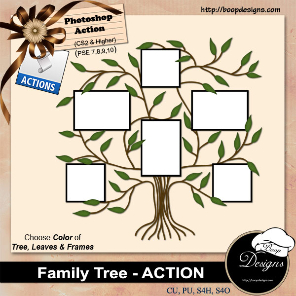 Family Tree ACTION by Boop Designs
