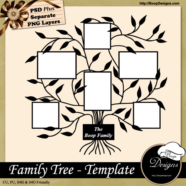 Family Tree TEMPLATE by Boop Designs