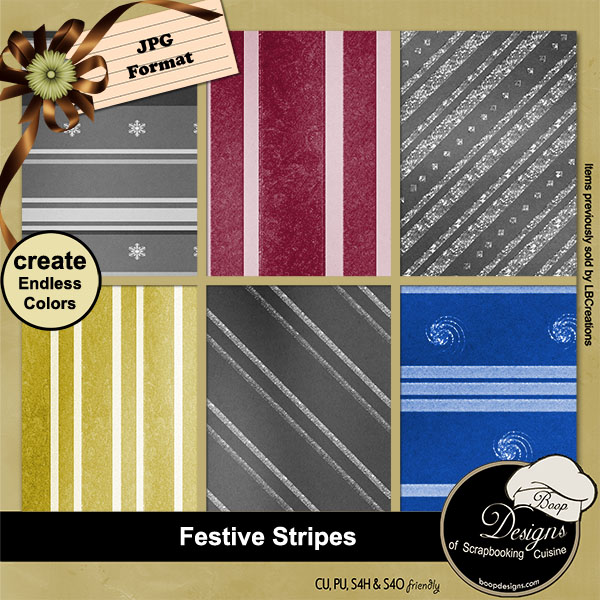 Festive Stripes - Overlays by Boop Designs