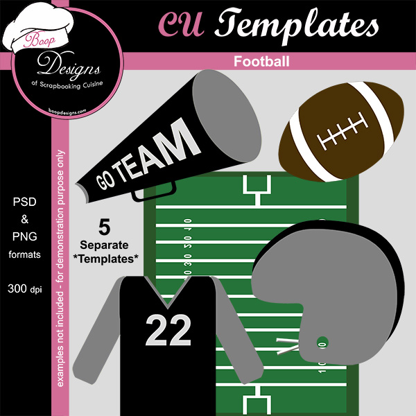 Football - CU Templates by Boop Designs
