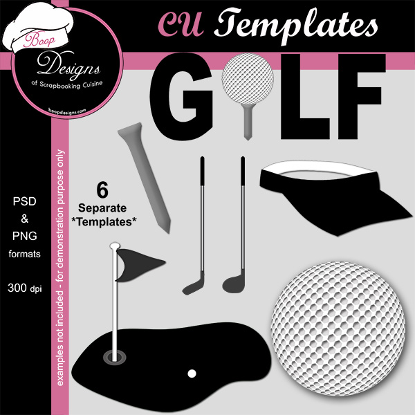 Golf - CU Templates by Boop Designs