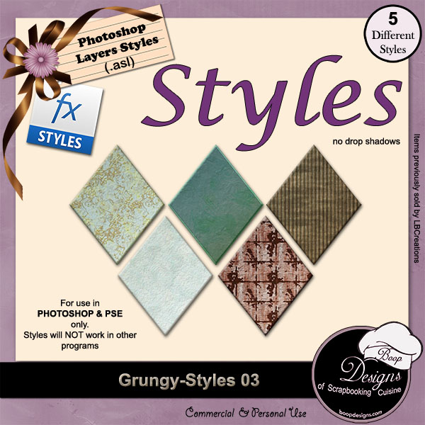 Grungy STYLES 03 by Boop Designs
