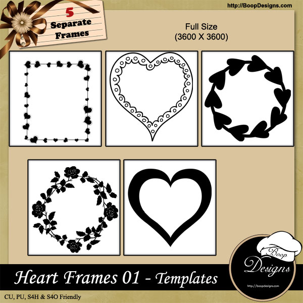 Heart Frames 01 by Boop Designs