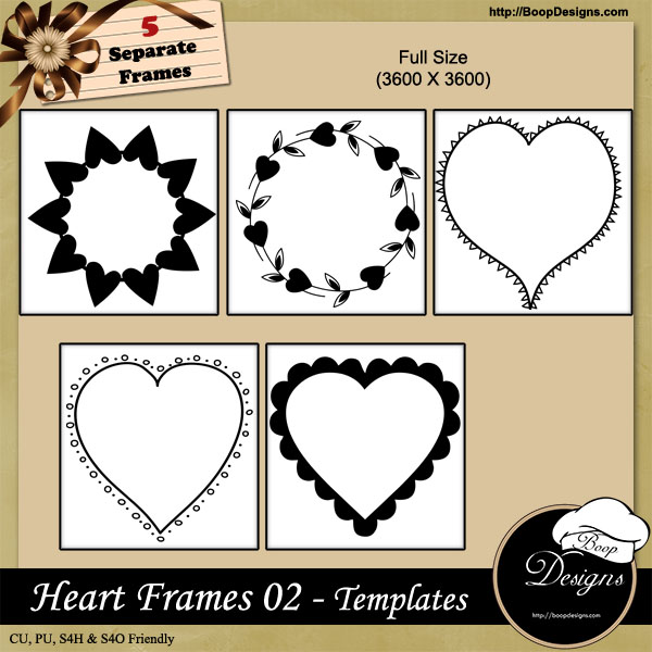 Heart Frames 02 by Boop Designs