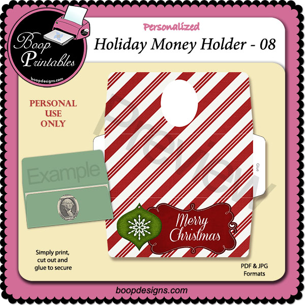 Holiday Money Holder 08 by Boop Printable Designs