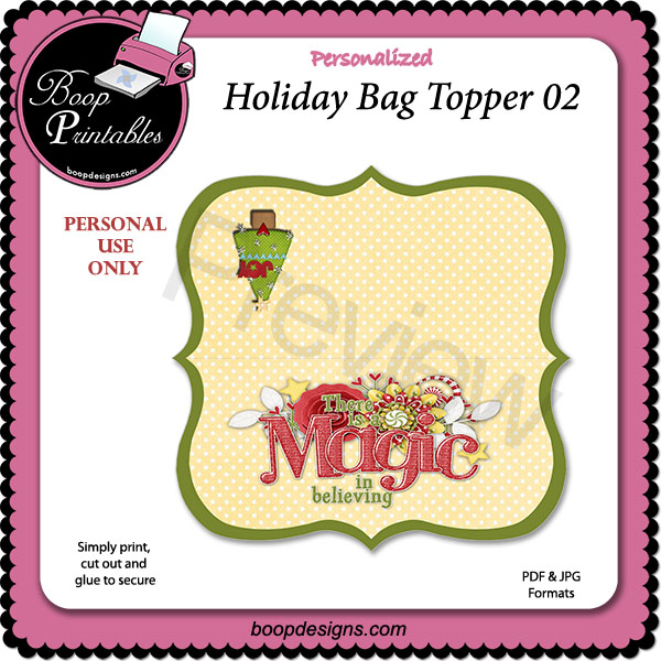Holiday Bag Topper 02 by Boop Printable Designs