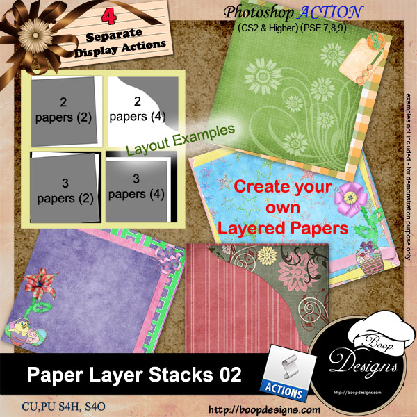 Paper Layer Stacks 02 by Boop Designs