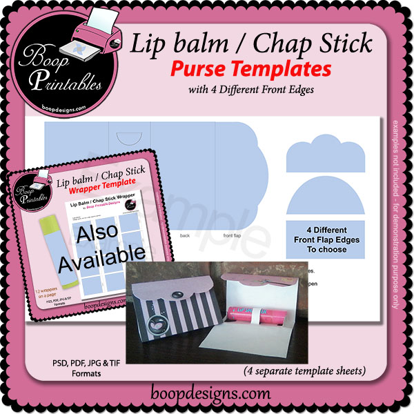 Lip Balm / Chap Stick Purse TEMPLATE by Boop Printables
