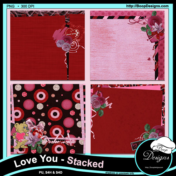 Love You Stacked Papers by Boops Designs
