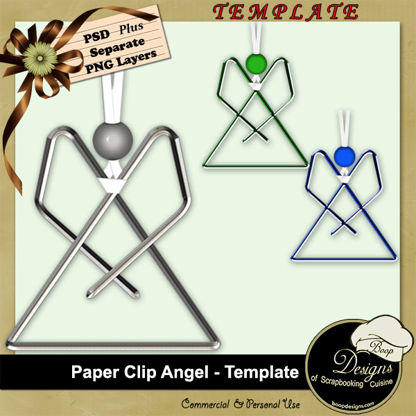 Paper Clip Angel - Template by Boop Designs
