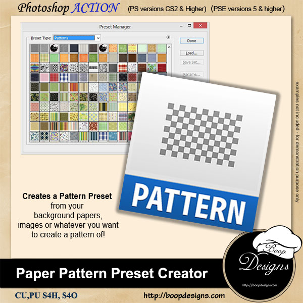 Pattern PRESET Creator by Boop Designs