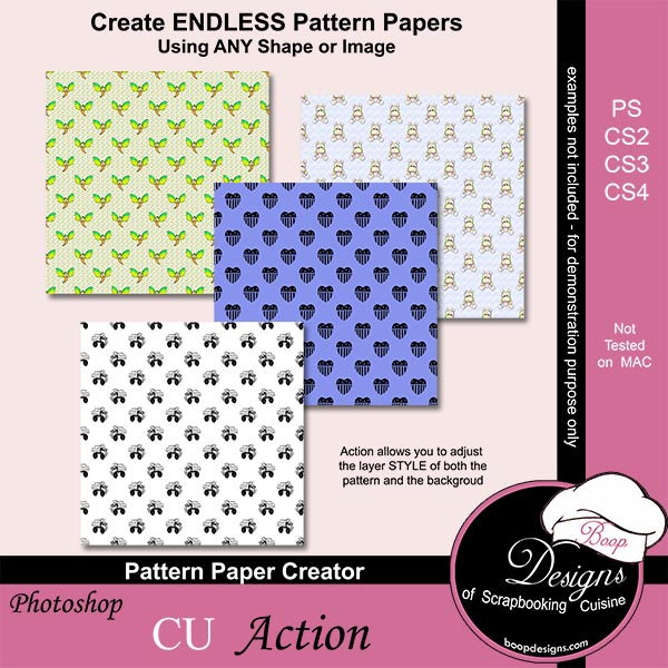 Pattern Paper Creator by Boop Designs