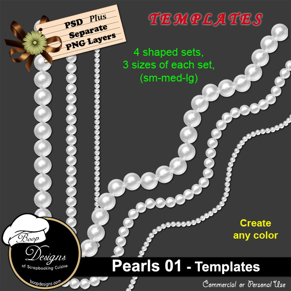 Pearls 01 TEMPLATE by Boop
