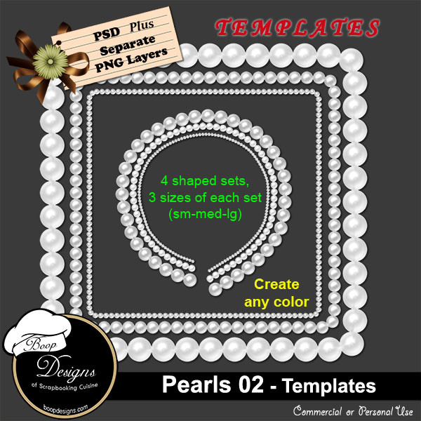 Pearls 02 TEMPLATE by Boop