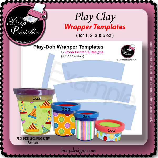 Play-Doh TEMPLATE Wrapper by Boop Printable Designs