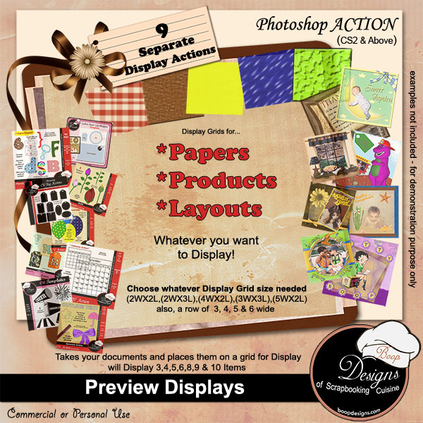 Preview Displays by Boop Designs