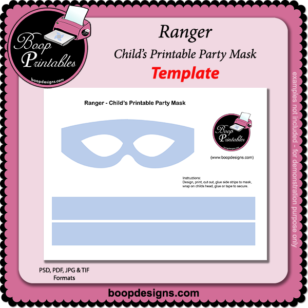 Ranger - Printable Mask TEMPLATE by Boop Printable Designs