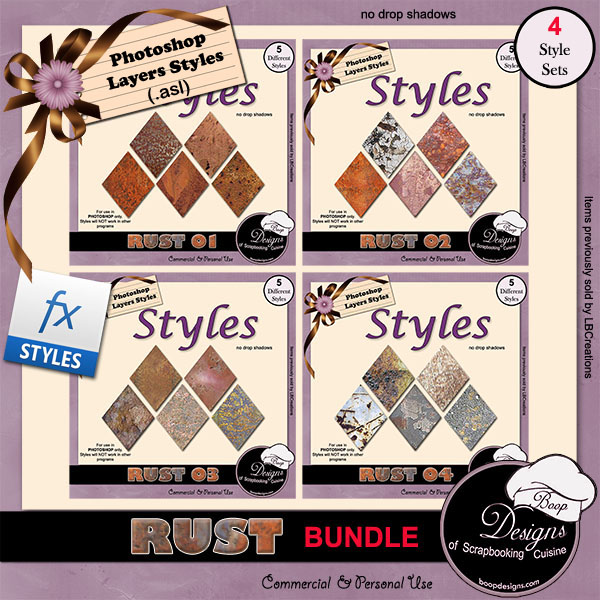 Rust STYLES Bundle by Boop Designs