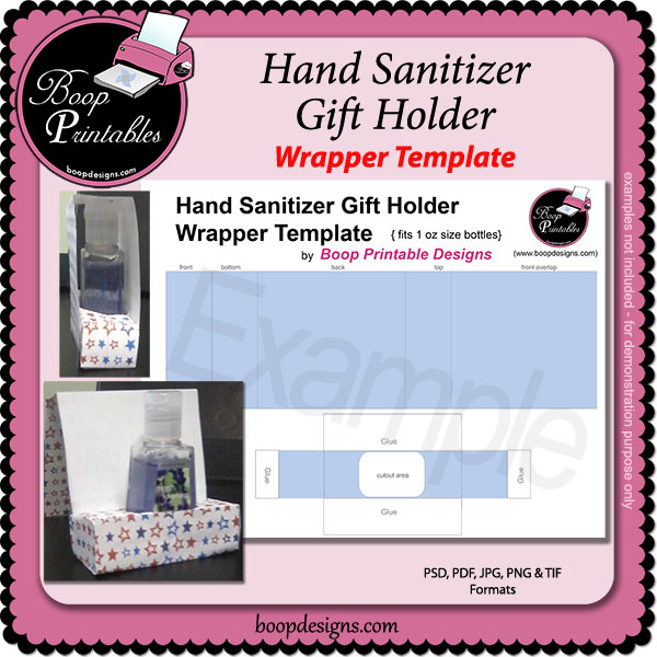 Sanitizer Bottle Gift Holder TEMPLATE by Boop Printable Designs