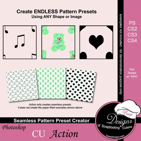Seamless Pattern Preset Creator by Boop Designs