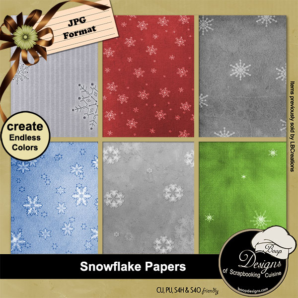 Snowflake Papers - Overlays by Boop Designs