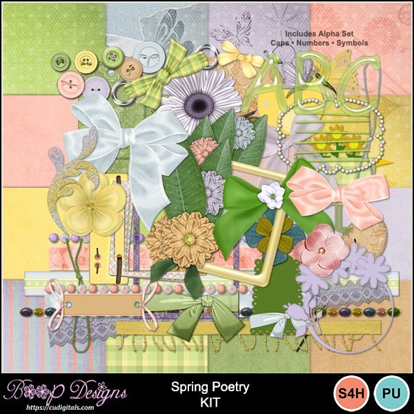 Spring Poetry Kit by Boop Designs