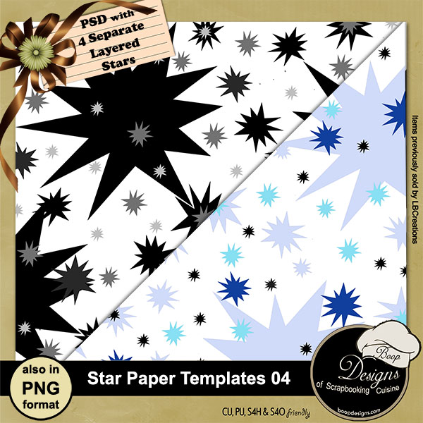 Star Paper Template 04 by Boop Designs
