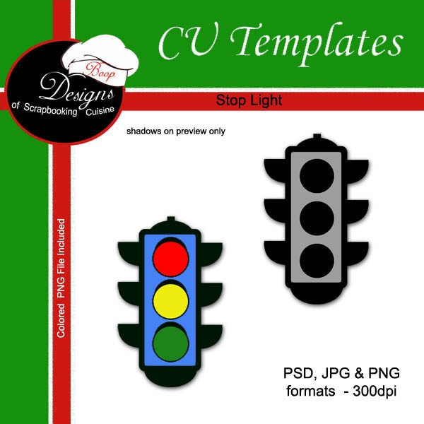 Stop Light - CU TEMPLATE by Boop Designs