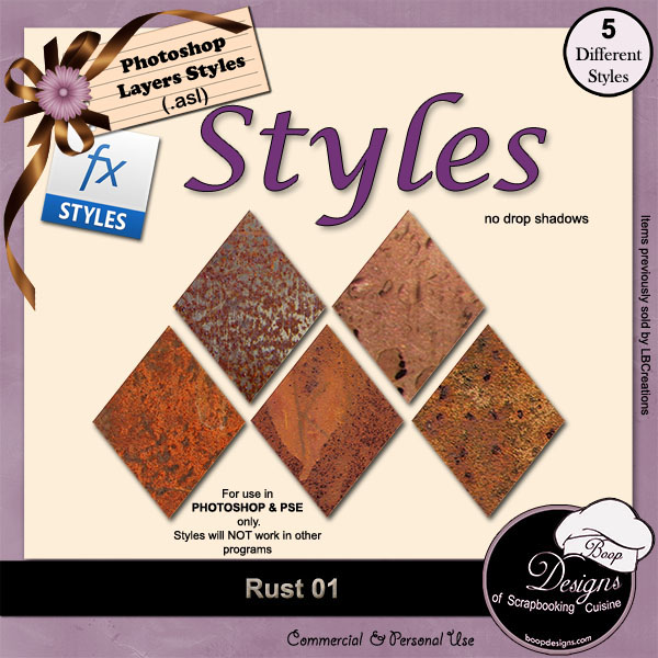 Rust STYLES 01 by Boop Designs