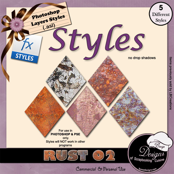 Rust STYLES 02 by Boop Designs