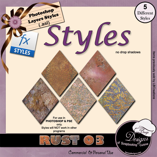 Rust STYLES 03 by Boop Designs