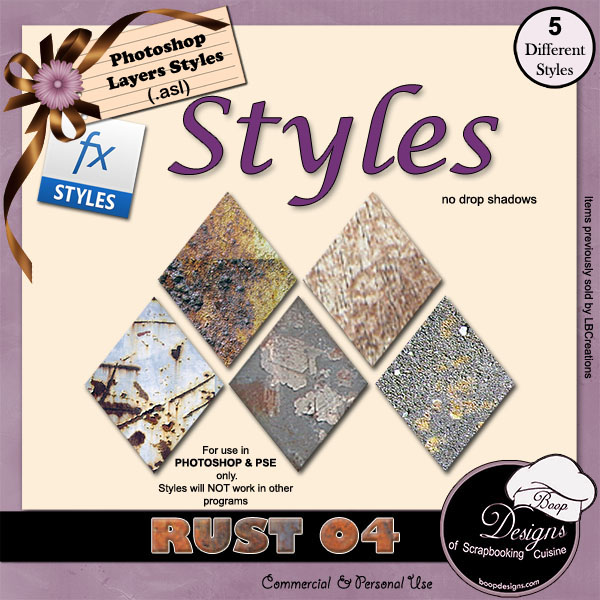 Rust STYLES 04 by Boop Designs