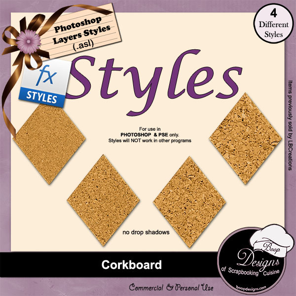 Corkboard STYLES by Boop Designs