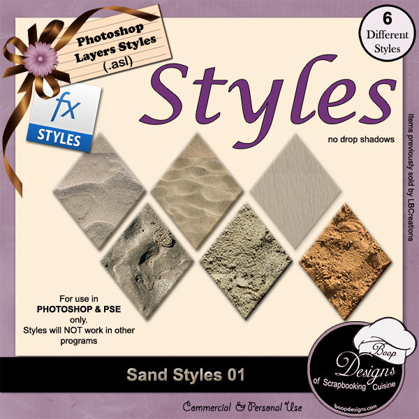 Sand STYLES 01 by Boop Designs