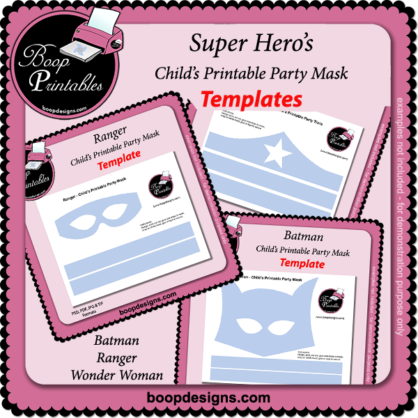 Super Hero's TEMPLATE BUNDLE - Printable Mask TEMPLATEs