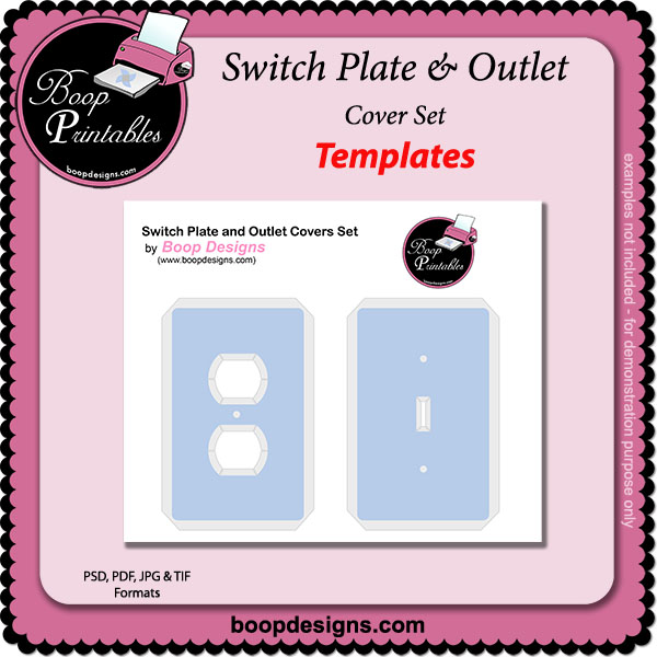 Switch Plate & Outlet Cover TEMPLATE Set by Boop Printables