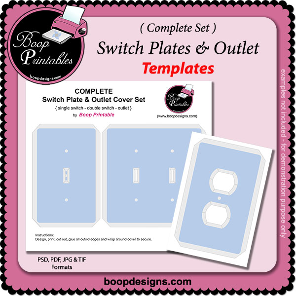 Switches & Outlet COMPLETE TEMPLATE Set by Boop Printables