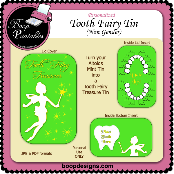 Tooth Fairy Altoid Tin Non Gender by Boop Printable Designs