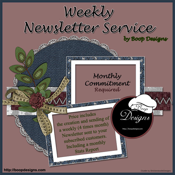 Weekly Newsletter Service by Boop Designs