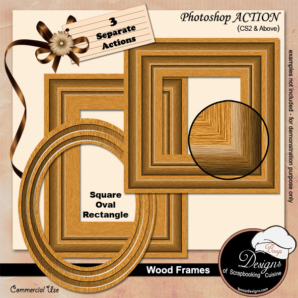 Wooden Frames by Boop Designs