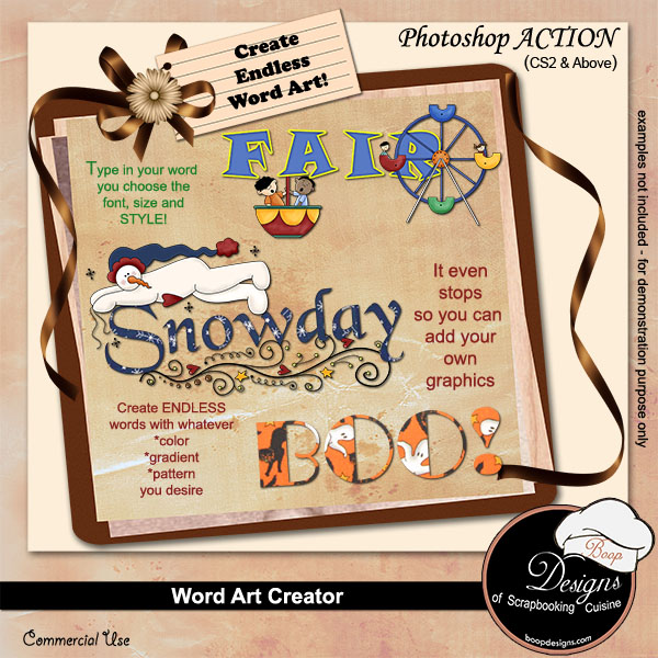 Word-Art Creator by Boop Designs